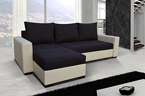 Sofá Newark7 sofá de esquina con función cama sofá cama