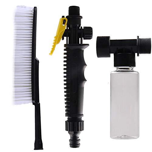 Angoter 1 Satz Autowaschbürste Außen Retractable Stiel Wasserströmungswächter Schaumflasche Auto-Reinigungs-Bürsten-Werkzeug (Lkw-wasch-kit)
