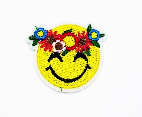 rägt eine Krone von Blumen Cartoon Kids Kinder Cute Animal Patch für Heimwerker Aufnäher Eisen auf Patch T Shirt Patch Sew Iron on gesticktes Badge Schild Kostüm (Kind Trägt Ein Kostüm)