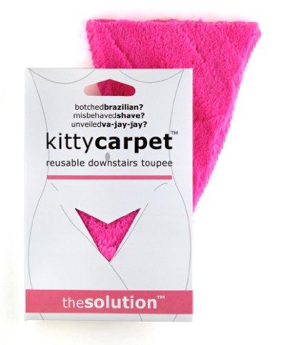 FASHION FIRST AID: Kitty Carpet: Schamhaar-Toupet Vagina-Perücke Wiederverwendbar Mit Klebestreifen (Braun Bart Kostüm)