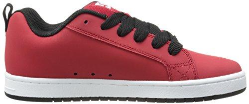 DC Shoes Court Graffik, Chaussures de skate homme Rouge/Noir/Blanc