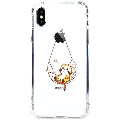 Coque iPhone X, JIAXIUFEN TPU Coque Silicone Étui Housse Protecteur pour Apple iPhone X (2017) - White Tribal Mandala Cat Music