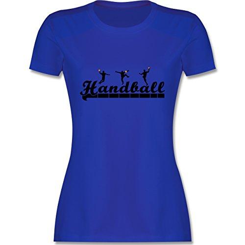Handball - Handball Sturm Torwart Schriftzug - S - Royalblau - L191 - Damen T-Shirt Rundhals
