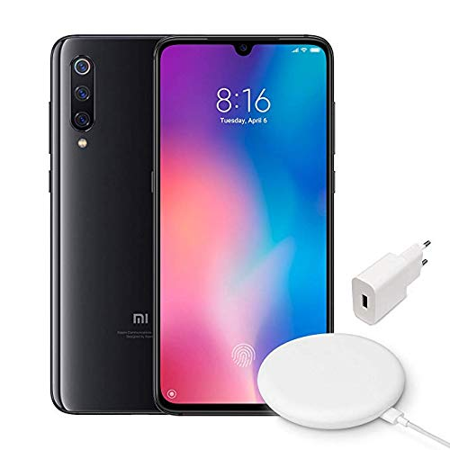 "Xiaomi MI 9 Smartphone, 64 GB, display AMOLED 6.39"", 2280x1080, Snapdragon 855 Octa-core, 6 GB RAM, Tripla Fotocamera 48+16+12 MP, Nero Onice + Wireless Charger 20W[Versione italiana]"