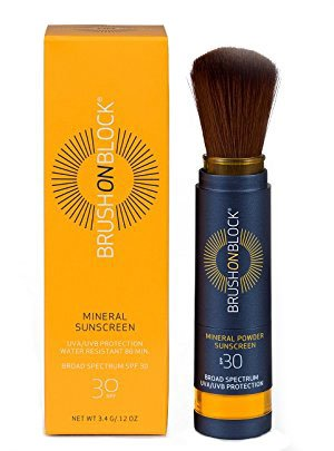 Brush On Block Broad Spectrum SPF 30 Mineral Powder Sunscreen Pinsel Sonnenschutz (getönt)