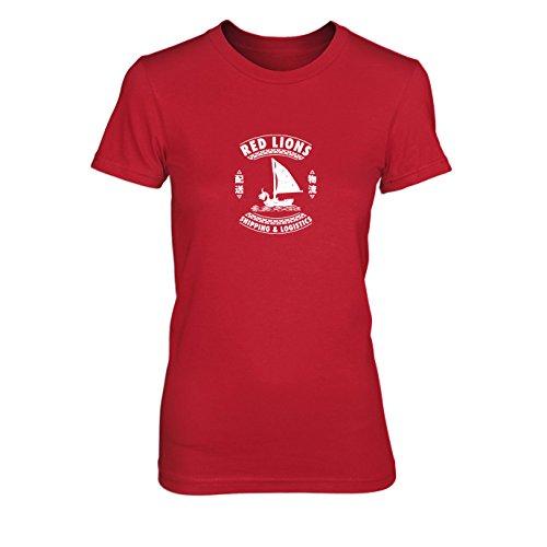 Red Lions Shipping & Logistics - Damen T-Shirt Rot