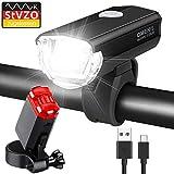 OMERIL Fahrradlicht Set Aluminium LED Fahrradlichter StVZO-Zulassung Fahrradbeleuchtung USB Aufladbar und Wasserdicht Fahrradlampe LED mit Frontlicht und Rücklicht. Sturdy & Duragable