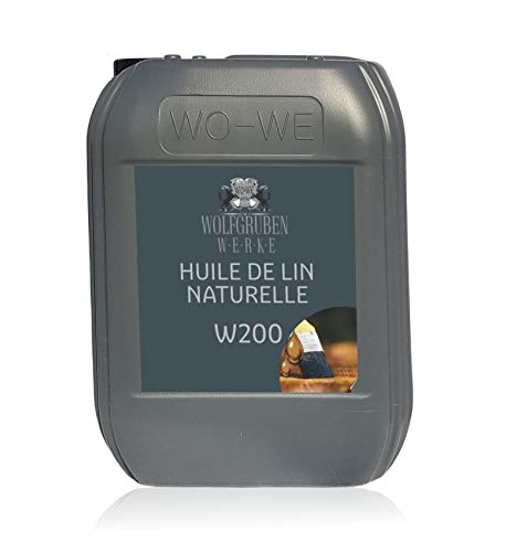 Huile de lin pure W200 première pression à froid pour le bois 5L