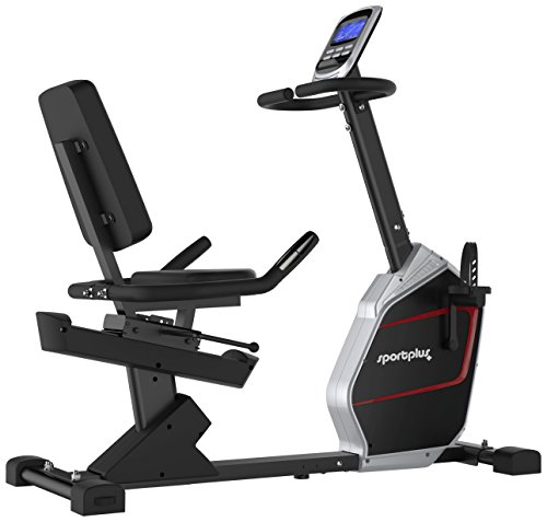 SportPlus Sitzergometer / Recumbent Bike mit App-Steuerung und Google Street View, Bluetooth Brustgurt kompatibel, Benutzergewicht bis 150 kg, 9 kg Schwungmasse, SP-RB-9900-iE