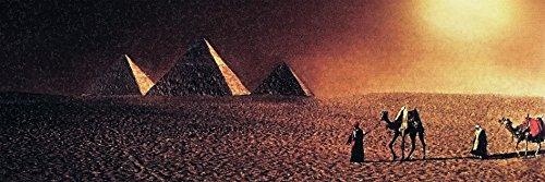 Kunst Druck Bild Ägypten Pyramiden Wüste romantisch Leinwand Poster Tapete Mousepad Acrylglas...