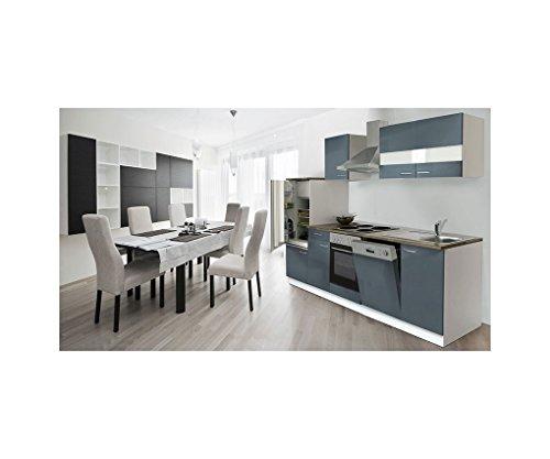 Respekta cucina cucina riga in cucina da incasso in blocco mobili parti 280cm bianco grigio lbkb280wg