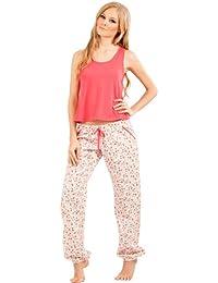 719a59101 Adriana Arango Women s Pyjama Set Trendy Tank Crop Top Pants  7535