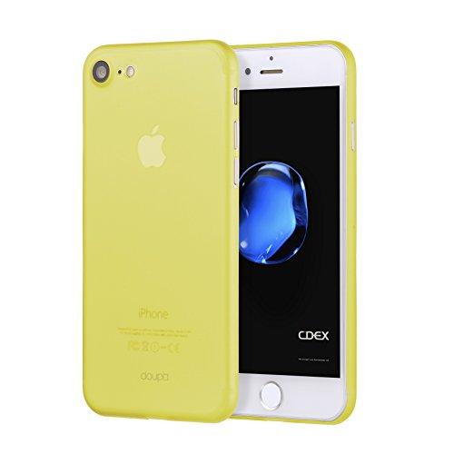 doupi UltraSlim Hülle für iPhone 8/7 (4,7 Zoll), Ultra Dünn Fein Matte Oberfläche Handyhülle Cover Bumper Schutz Schale Hardcase Design Schutzhülle, gelb