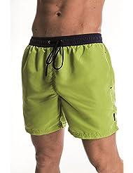 Original zagano Short de bain–short Bermuda–plusieurs couleurs tendance et tailles S à 4X L, fabriqué en UE