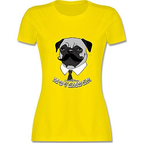 Statement Shirts - Movember Mops - tailliertes Premium T-Shirt mit Rundhalsausschnitt für Damen Lemon Gelb