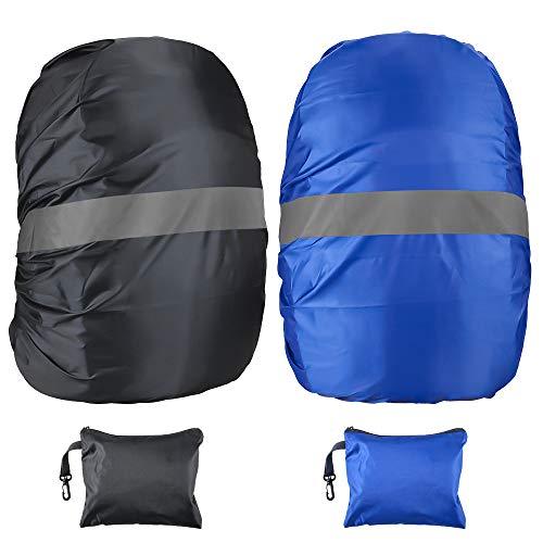 Oziral 2-Pack Parapioggia per Zaino con Striscia Riflettente per l'escursionismo/Campeggio/Viaggio/attività all'aperto 45L
