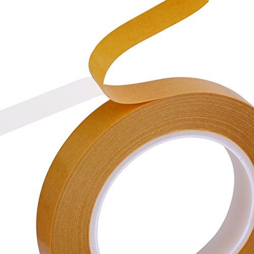 Ruban adhésif autocollant double face sur deux pages forte adhérence pouvoir adhésif double face ruban adhésif de montage (18mm x 50m)