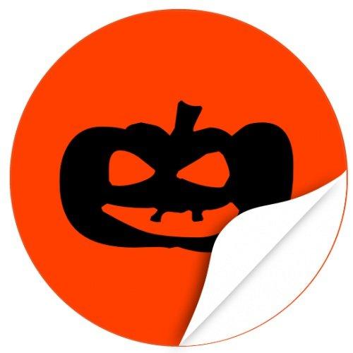 / Aufkleber / Sticker / 48 Stück / Kürbis zum kleben / Dekorieren / Farbe Orange / Selbstklebend / Rund ()