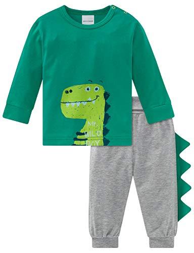 Schiesser Baby-Jungen Supersaurus Anzug lang 2-teilig Zweiteiliger Schlafanzug, Grün (Grün 700), 62 (Herstellergröße: 062)
