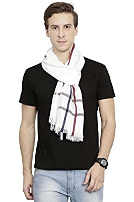 FabSeasons Casual Checkered Men's Cotton Scarf, Muffler, Shawl and Stole for Winters, Summers and all Seasons, Size - 70 * 200 cms