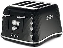 De'Longhi Brillante CTJ4003BK 4-Slice Toaster - Black