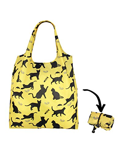 Re-Uz-Lifestyle-Shopper-Foldable-Reusable-Shopping-Grocery-Bag-Happy-Cats