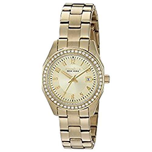 Da donna Caravelle New York Crystal Gold Tone Watch