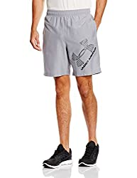 Under Armour Mens Shorts (889819341043_1286060-35_Small_Steel and Black)