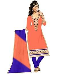 MAHI FASHION Women's Cotton Dress Material (MF24_Free Size_Multi-Coloured)