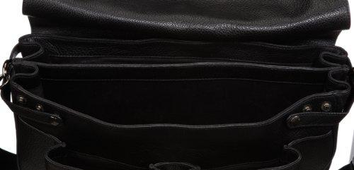 OTTO KERN Aktentasche Firenze 4 Black, Unisex-Erwachsene Henkeltaschen, schwarz (Black), 43X32X13 cm (B X H X T) Schwarz (Black)