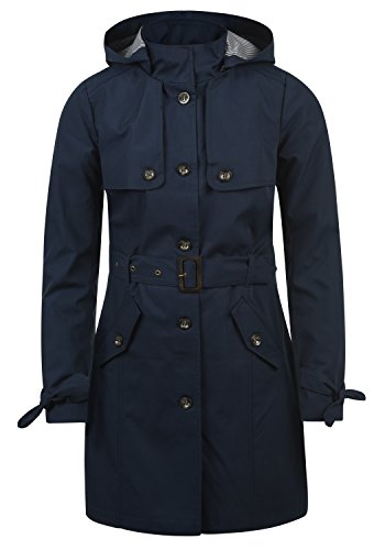 Desires Tina Damen Trenchcoat Übergangsmantel Jacke Mit Abnehmbarer Kapuze, Größe:L, Farbe:Insignia Lewd (1991)