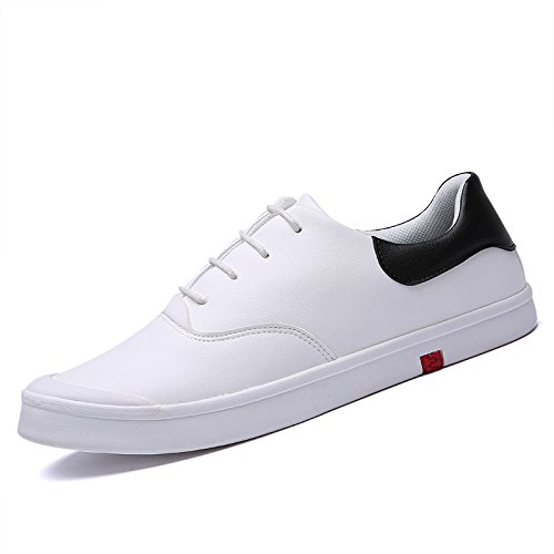 Men's Leather Flats Comfortable Teenagers Skateboarding Shoes 2332