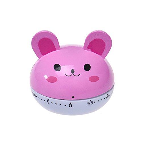 Malloom®lindo precioso temporizador de cocina cuenta atrás 60 minutos reloj despertador (rosa (pink))