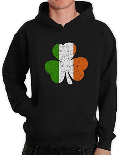 Irland Farben Kleeblatt Clover St. Patricks Day Kapuzenpullover Hoodie XXXXX-Large Schwarz (Trinken Das Von Green Team T-shirt)