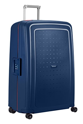 SAMSONITE S'Cure - Spinner 81/30 Bagage cabine, 81 cm, 138 liters,  (Navy Bleu/capri Rouge)