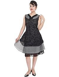 Aprique Fab Women's Black Color Dress