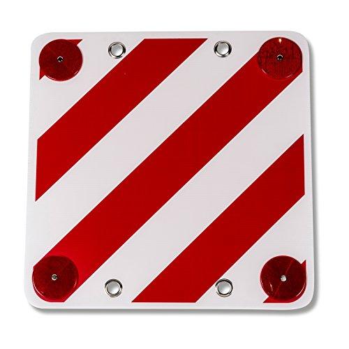 Siehe Beschreibung Quadratisches Warnschild mit roten Reflektoren ideal für den Wohnwagen oder Anhänger • Warntafel Gefahrgut Fahrradträger Wohnmobil Caravan Traktor