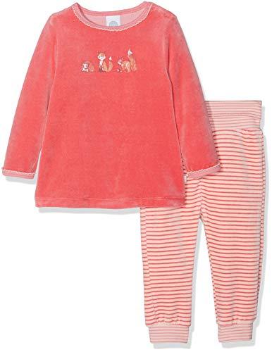 Sanetta Baby-Mädchen Zweiteiliger Schlafanzug Pyjama Long, Pink (Lotus Rose 3224.0), 98