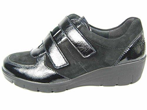 Semler Damen Judith Velcro Sneakerss Schwarz