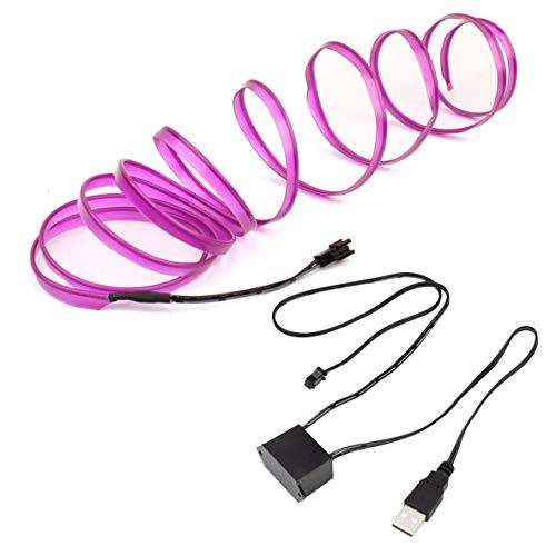 Noradtjcca LED EL Licht Neon Seil Auto Dance Glow Licht Streifen + 3 V / 12 V Controller USB Stick Auto Dekoration Licht Auto Styling Party Decor (Dekorationen Neon Dance)