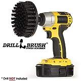 Drillbrush 5 pollici Diametro ultra rigida in nylon SCUB pennello utilizzato per Heavy Duty mattoni e pietra a secco con albero cambio rapido stiff nero-ultra