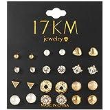 12 Pcs Stud Earrings Set For Women - Silver