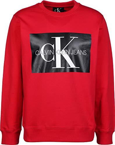 Calvin Klein Jeans Monogram Box Logo Sweater Racing red