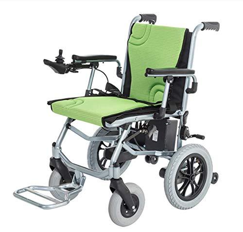 CSCR Ultraleggero Sedia A Rotelle Elettrica Pieghevole Portatile Solo 16 kg Progettato per Anziani e disabili - Motore brushless da 300 W -12AH Batteria agli ioni di Litio Endurance 20 km,1