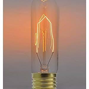 Cablematic - Edison ampoule à filament incandescent E27 25W 220VAC T32 32x129mm