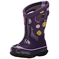 Bogs Kids Classic High Waterproof Insulated Rubber Neoprene Rain Snow Boot, Sketched Dots Print/Purple/Multi, 2 M US Little Kid
