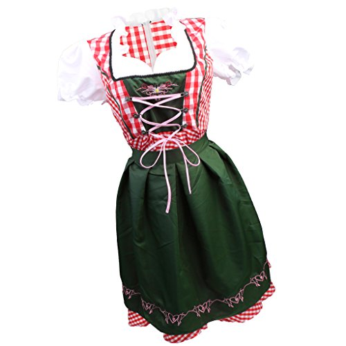 Baoblaze costume oktoberfest heidi tedesco dress up drindl beer maid halloween - xxl