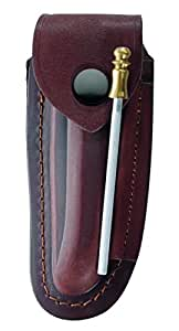 Herbertz Étui en cuir, pour Couteau Laguiole 12cm Marron uni, gris, M