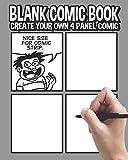 Blank Comic Book: Create Your Own 4 Panel Comic