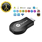 #4: Qualtos™ Anycast WiFi Hdmi Wireless Dongle Display Compatible with iOS and Android Devices (One Year Warranty)